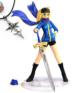 billige Anime cosplay-Anime Action Figurer Inspirert av Fate/Stay Night Saber PVC 23 CM Modell Leker Dukke