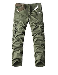 billige Herrebukser og -shorts-Herre Enkel Bomull Chinos Bukser Lapper