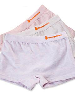 billige Undertøj og sokker til piger-Pige Undertøj Ensfarvet, Bomuld Alle årstider Simple Mikroelastisk Grå