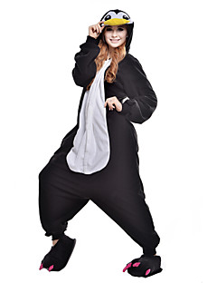 billige Kigurumi-Voksne Kigurumi-pysjamas Pingvin Onesie-pysjamas Kostume Polar Fleece / Syntetisk Fiber Svart Cosplay Til Pysjamas med dyremotiv Tegnefilm Halloween Festival / høytid