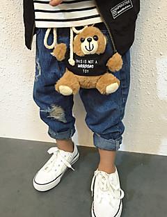 tanie Odzież dla chłopców-Spodnie Wełna Bawełna Włókno bambusowe Dla chłopców Codzienny Jendolity kolor Wiosna Vintage Niebieski Black