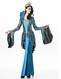 cheap Men's & Women's Halloween Costumes-More Costumes Cosplay Costume Masquerade Women's Halloween Carnival Festival / Holiday Halloween Costumes Blue Geometric Vintage