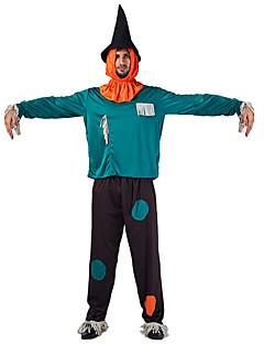 billige Halloweenkostymer-Trollmann Cosplay Kostumer Herre Halloween Festival / høytid Halloween-kostymer Grønn Halloween Halloween
