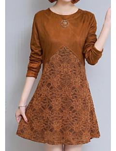 billige Pigesweaters og hættetrøjer-Dame Kashmir Langærmet Lang Cardigan - Ensfarvet