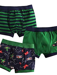 billige Undertøj og sokker til drenge-Drenge Undertøj Stribet, hør/bomuldsblanding Alle årstider Mikroelastisk Grøn Rød