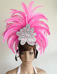 cheap Halloween & Carnival Costumes-Carnival Hats Pink Feather Cosplay Accessories Carnival Masquerade
