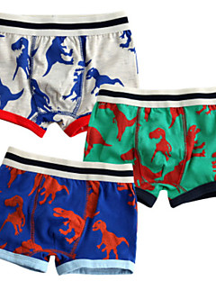 billige Undertøj og sokker til drenge-Drenge Undertøj Tegneserie, Bomuld Alle årstider Simple Mikroelastisk Grøn Rød Army Grøn