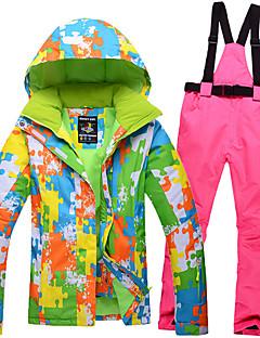 billiga Skid- och snowboardkläder-Alla Skidjacka och -byxor Varm, Vattentät, Vindtät Skidåkning / Snowboardåkning / Utför POLY Klädesset Skidkläder