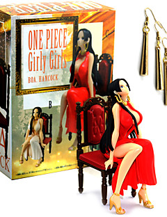 billige Anime cosplay-Anime Action Figurer Inspirert av One Piece Boa Hancock PVC 13 CM Modell Leker Dukke