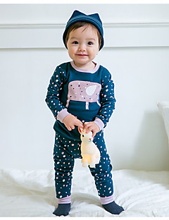 billige Undertøj og sokker til drenge-Drenge Nattøj Simpel, Bomuld Langærmet Normal Blå Sort