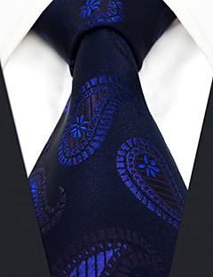 billige Slips og sløyfer-menns festverk rayon slips - paisley jacquard