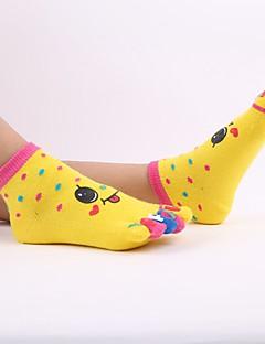 tanie Odzież dla dziewczynek-Wyroby pończosznicze Bawełna Dla dziewczynek Geometryczny Zima Aktywny Elastyczny/a Orange Yellow