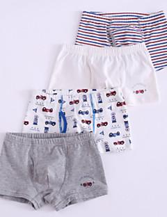 preiswerte Unterwäsche & Socken für Jungen-Jungen Unterwäsche Punkt Gestreift Baumwolle Ganzjährig Einfach Mikro-elastisch Grau