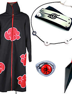 cheap Anime Costumes-Inspired by Naruto Itachi Uchiha Anime Cosplay Costumes Cosplay Suits Cosplay Accessories Print Cloak More Accessories Weapon Necklaces