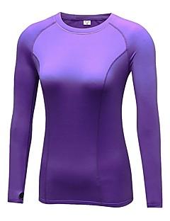 billige Løbetøj-Dame Løbe-T-shirt Langærmet Åndbarhed T-Shirt for Yoga / Træning & Fitness / Udendørs Træning Polyester Sort / Blå / Lilla L / XL / XXL