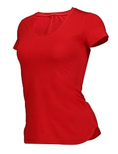 billiga Träning-, jogging- och yogakläder-Dam T-shirt för jogging - Svart, Röd sporter T-shirt Yoga, Fitness, Gym Kortärmad Sportkläder Snabb tork