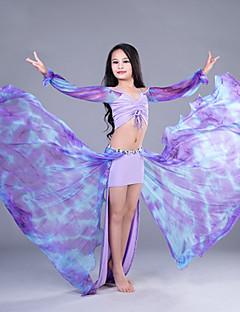 tanie Dziecięca odzież do tańca-Taniec brzucha Outfits Wydajność Bawełna Len Modalny Bandażowe Długi rękaw Wypada Spódnice Top