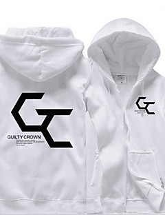 cheap Anime Cosplay-Inspired by Guilty Crown Cosplay Anime Cosplay Costumes Cosplay Hoodies Solid Colored Hoodie For Men's Women's
