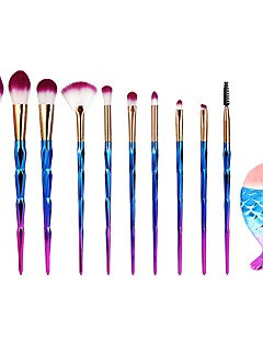 cheap Makeup Brushes-11pcs Nylon Eco-friendly Soft Travel Size Hypoallergenic Full Coverage Plastic Face
