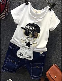 tanie Odzież dla chłopców-Komplet odzieży Inne Dla chłopców Codzienny Osoba Lato Krótki rękaw White