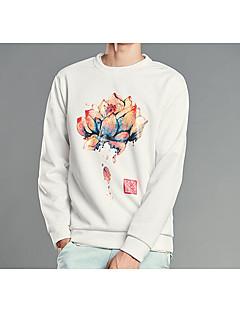billige Hættetrøjer og sweatshirts til herrer-Herre Langærmet Rund hals Sweatshirt - Lolita