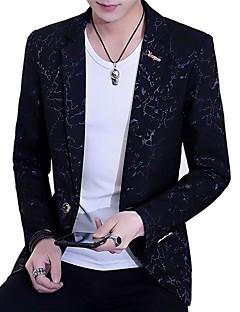 お買い得  メンズファッション&ウェア-男性用 プラスサイズ ブレザー カモフラージュ, コットン