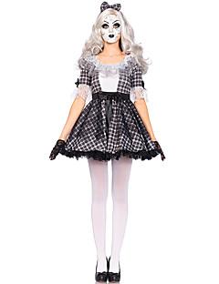 billige Halloweenkostymer-Vampyrer Cosplay Kostumer Dame Halloween Festival / høytid Halloween-kostymer Svart Pledd / Tern