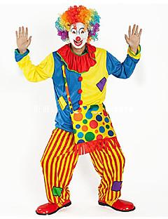 billige Halloweenkostymer-Burlesk/Klovn Sirkus Cosplay Kostumer Party-kostyme Voksne Karneval Festival / høytid Halloween-kostymer Regnbue Fargeblokk Artig &
