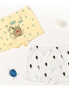 billige Undertøj og sokker til drenge-Drenge Undertøj Dyretryk Tegneserie, Bomuld Alle årstider Tegneserie Mikroelastisk Blå Gul Lyseblå