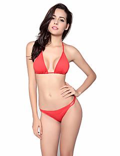 billige Bikinier og damemote 2017-Dame Grime Trekant Bikini G-streng Ensfarget