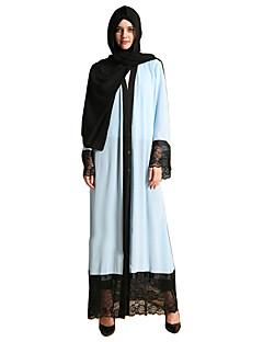 baratos Costumes étnicas e Cultural-Vestidos / Vestido Kaftan / Jalabiya Mulheres Festival / Celebração Trajes da Noite das Bruxas Azul Sólido Fashion