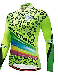 billige Sykkelklær-CYCOBYCO Sykkeljersey Dame Langermet Sykkel Genser Jersey Topper Sykkelklær Træner Reflekterende Stripe Fort Tørring Pusteevne Stretch