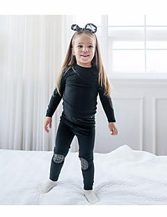 billige Undertøj og sokker til piger-Pige Nattøj Ensfarvet Brun Sort Grå