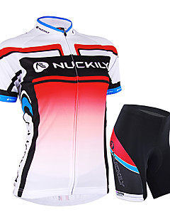cheap Cycling Jersey & Shorts / Pants Sets-Nuckily Women's Short Sleeves Cycling Jersey with Shorts - Pink Bike Shorts Jersey Clothing Suits, Waterproof, Ultraviolet Resistant,