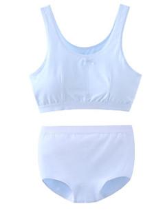 billige Undertøj og sokker til piger-Pige Undertøj Ensfarvet, Bomuld Forår Sommer Simple Mikroelastisk Blå Hvid Lyserød