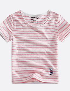 tanie Odzież dla chłopców-T-shirt Bawełna Dla chłopców Prążki Lato Krótki rękaw Prosty Black Orange Czerwony Navy Blue Fuchsia