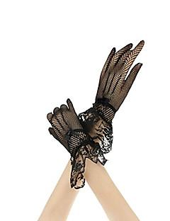Χαμηλού Κόστους Women's Gloves-Γυναικεία Πάρτι Δαντέλα Μέχρι τον καρπό Ακροδάχτυλα Γάντια