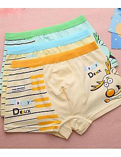 billige Undertøj og sokker til drenge-Drenge Undertøj Tegneserie, Bomuld Alle årstider Mikroelastisk Gul