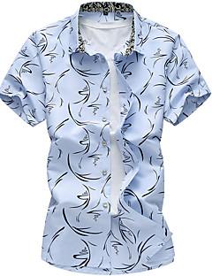 billige Herremote og klær-Bomull Skjorte - Trykt mønster Herre