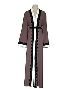 baratos Costumes étnicas e Cultural-Moda Vestido Kaftan Abaya Vestido árabe Mulheres Festival / Celebração Trajes da Noite das Bruxas Rosa Floral