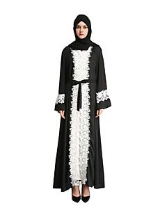 tanie Etniczne & Cultural Kostiumy-Arabska sukienka / Abaya / Sukienka Kaftan Damskie Festiwal/Święto Kostiumy na Halloween Czarny Jendolity kolor Klasyczny / Szyfon