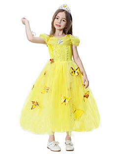 billige Halloweenkostymer-Prinsesse Cinderella Eventyr Kjoler Party-kostyme Barne Jul Maskerade Bursdag Festival / høytid Halloween-kostymer Hvit Gul Blå Rosa