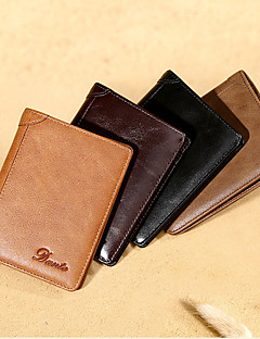 cheap Backpacks & Bags -L Credit Card Holders Leather Loop Wallet Casual Folding Genuine Leather