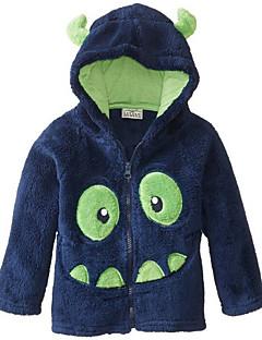 billige Hættetrøjer og sweatshirts til drenge-Drenge Bluse Trykt mønster, Bomuld Polyester Vinter Efterår Simple Aktiv Blå