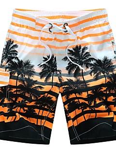 billige Herrebukser og -shorts-Herre Normal Enkel Uelastisk Rett Chinos Bukser, Medium Midje POLY Geometrisk Sommer