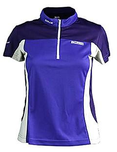 baratos Camisetas para Trilhas-Mulheres Camiseta de Trilha Ao ar livre Verão Secagem Rápida, Respirabilidade, Fitness Camiseta N / D Exercicio Exterior Fúcsia Vermelho Azul