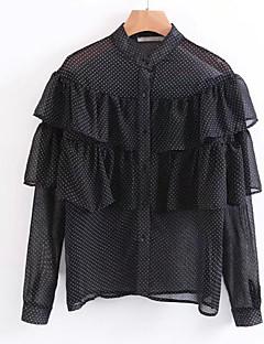 billige Bluse-Dame-Prikker Patchwork Sødt Bluse