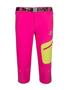 baratos Calças e Shorts para Trilhas-Mulheres Shorts de Trilha Ao ar livre Respirabilidade, Fitness, Sertão Elastano Calças Exercicio Exterior