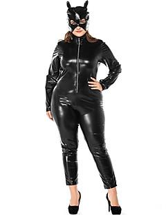 billige Zentai-Cosplay Kostumer Zentai Cosplay-kostymer Svart Ensfarget Trikot / Heldraktskostymer Spandex Lycra® Herre Dame Jul Halloween Karneval