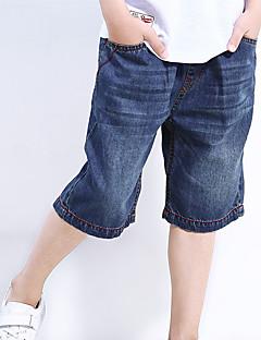 billige Drengebukser-Drenge Shorts Ensfarvet Forår Blå